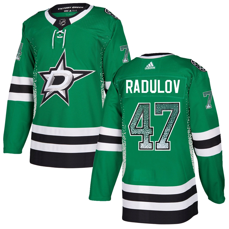 Stars 47 Alexander Radulov Green Drift Fashion Adidas Jersey