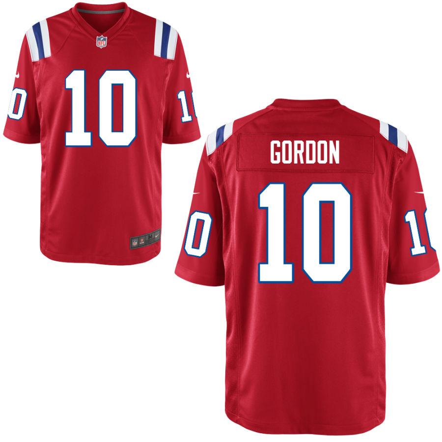 Nike Patriots 10 Josh Gordon Red Vapor Untouchable Limited Jersey