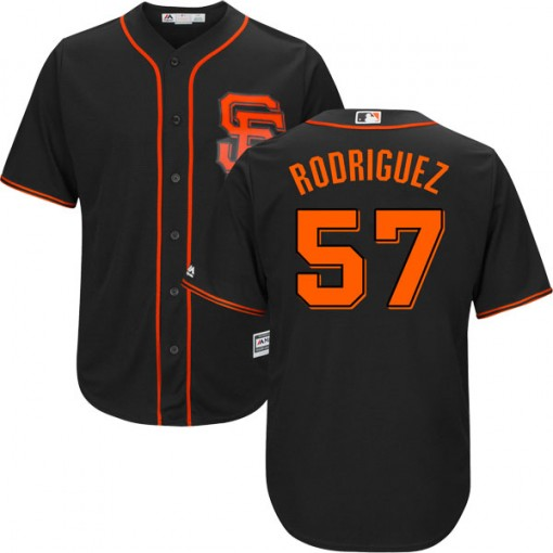 Giants 57 Derek Rodriguez Black Youth Cool Base Jersey