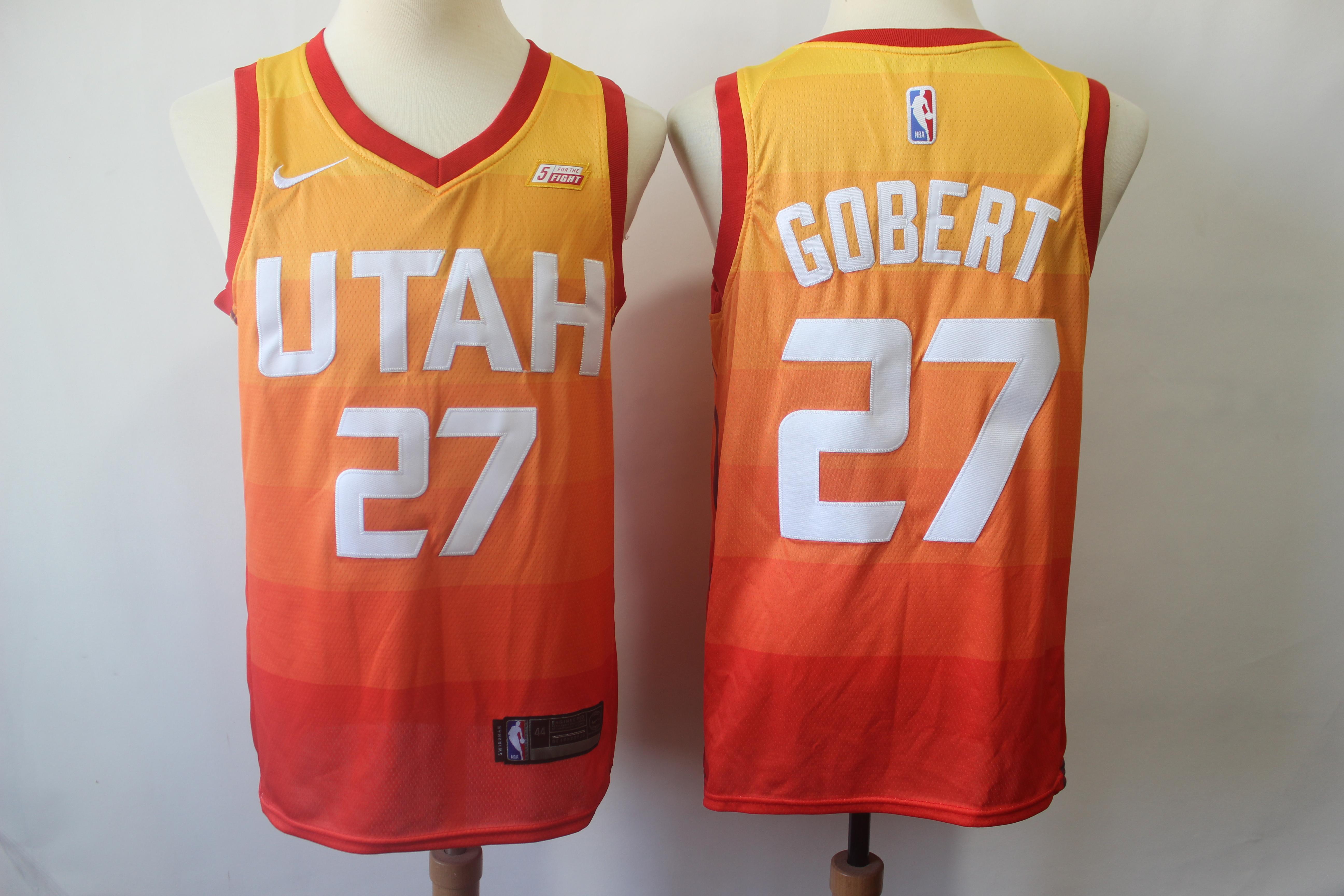 Jazz 27 Rudy Gobert Orange City Edition Nike Swingman Jersey