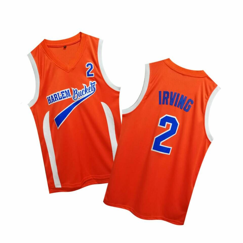 Uncle Drew Harlem Buckets 2 Kyie Irving Orange Movie Basketball Jersey