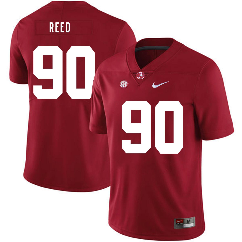 Alabama Crimson Tide 90 Jarran Reed Red Nike College Football Jersey