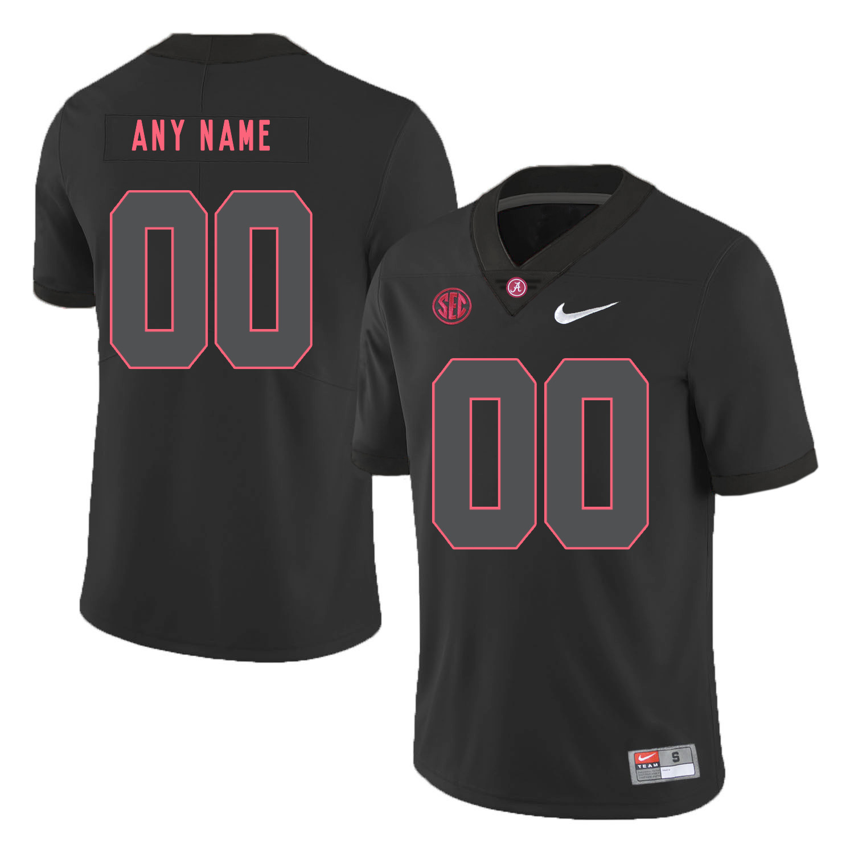 Alabama Crimson Tide Black Shadow Men's Customized College Football Jersey