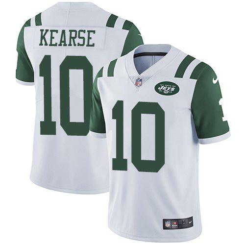 Nike Jets 10 Jermaine Kearse White Youth Vapor Untouchable Limited Jersey