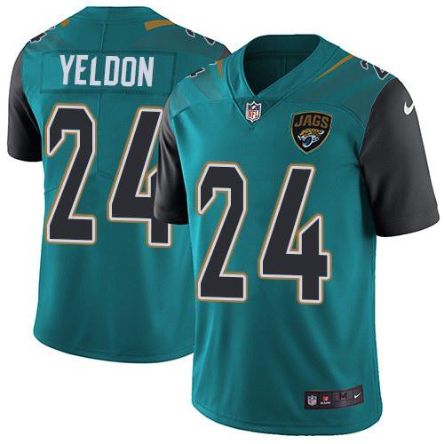 Nike Jaguars 24 T.J. Yeldon Teal Vapor Untouchable Limited Jersey