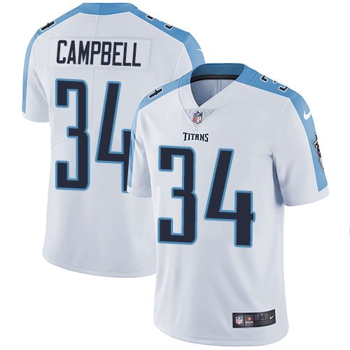 Nike Titans 34 Earl Campbell White Vapor Untouchable Limited Jersey