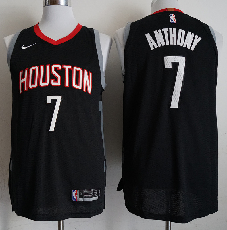 Rockets 7 Carmelo Anthony Black 2018-19 Nike Authentic Jersey