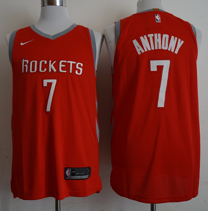Rockets 7 Carmelo Anthony Red 2018-19 Nike Authentic Jersey