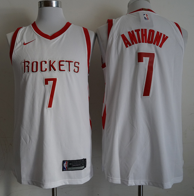 Rockets 7 Carmelo Anthony White 2018-19 Nike Authentic Jersey
