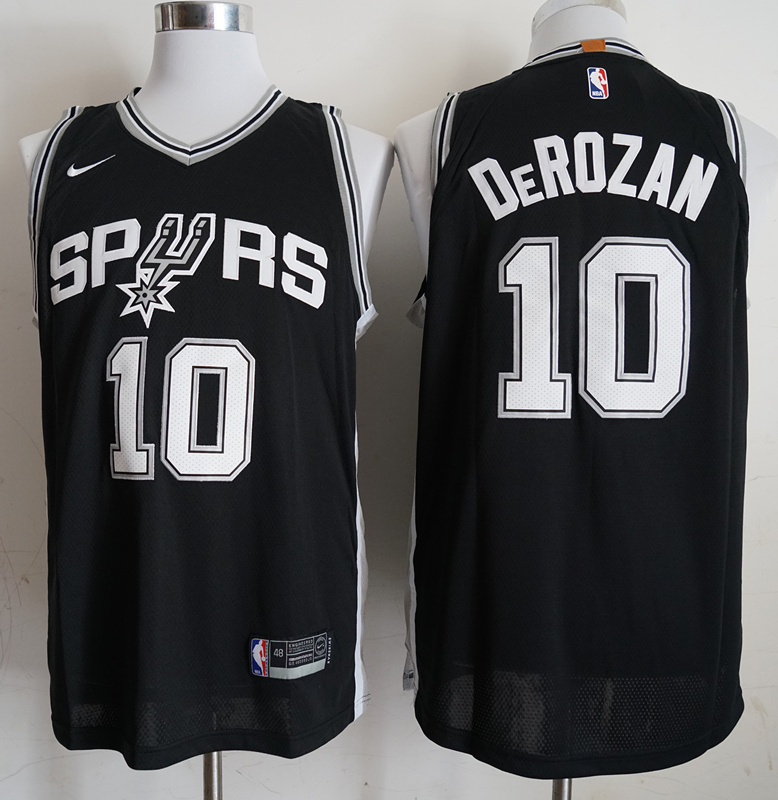 Spurs 10 DeMar DeRozan Black 2018-19 Nike Authentic Jersey