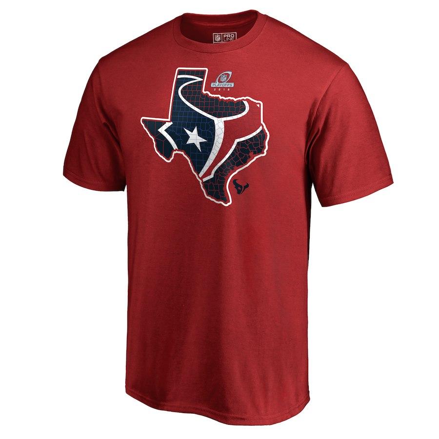 Texans Red 2018 NFL Playoffs Men's T-Shirt
