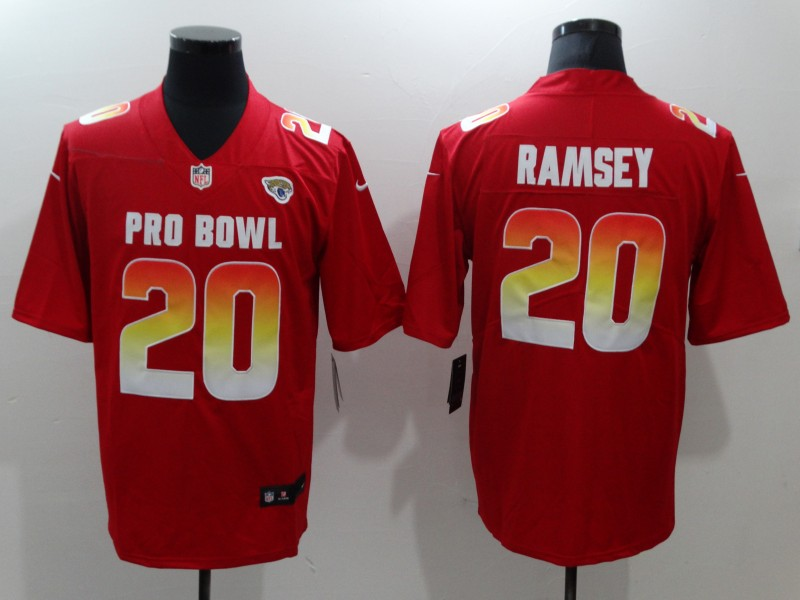 Nike AFC Jaguars 20 Jalen Ramsey Red 2019 Pro Bowl Game Jersey