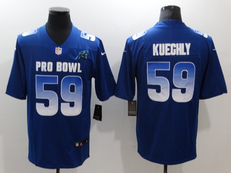 Nike NFC Panthers 59 Luke Kuechly Royal 2019 Pro Bowl Game Jersey
