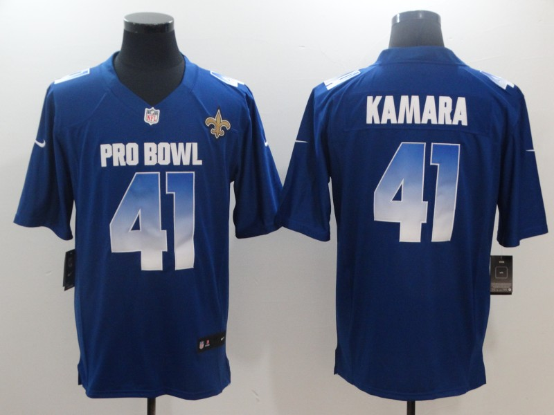 Nike NFC Saints 41 Alvin Kamara Royal 2019 Pro Bowl Game Jersey