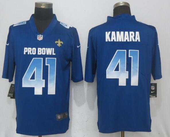 Nike NFC Saints 41 Alvin Kamara Royal 2019 Pro Bowl Limited Jersey