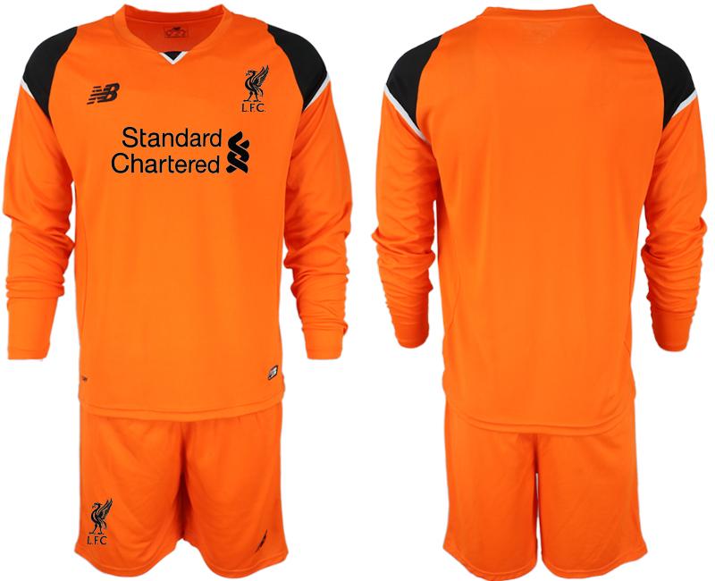 2018-19 Liverpool Orange Long Sleeve Goalkeeper Soccer Jersey
