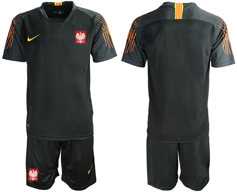 Poland Black 2018 FIFA World Cup Goalkeeper Soccer Jersey