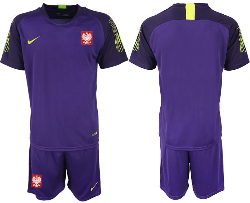 Poland Purple 2018 FIFA World Cup Goalkeeper Soccer Jersey