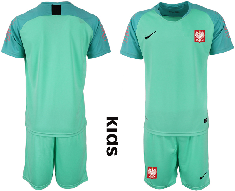 Poland Green Youth 2018 FIFA World Cup Goalkeeper Soccer Jersey
