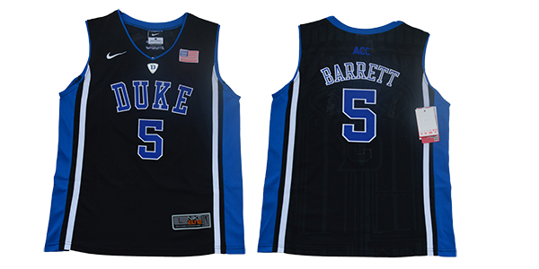 Duke Blue Devils 5 RJ Barrett Black Youth Nike College Basketball Jersey