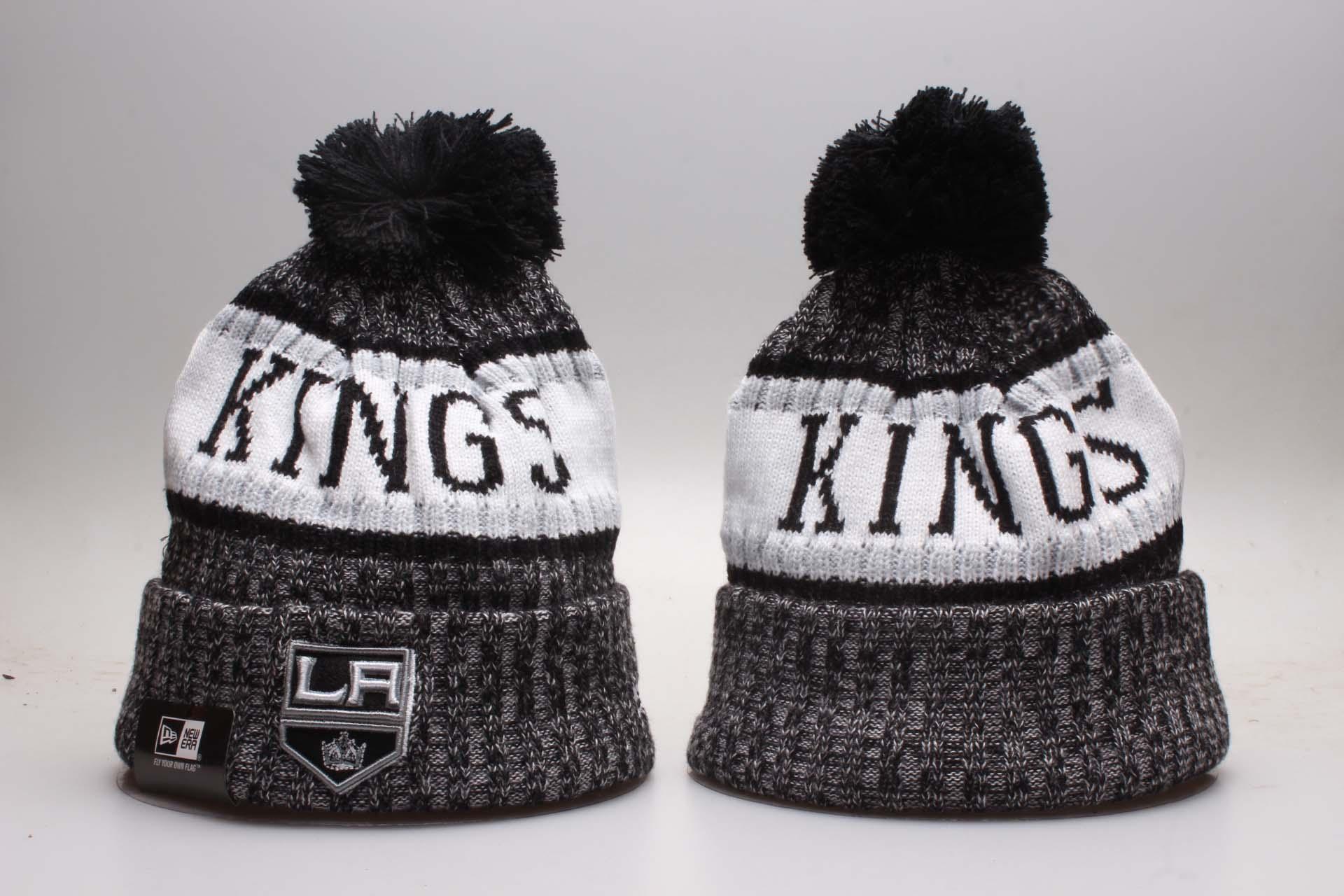 LA Kings Fresh Logo Black Knit Hat YP