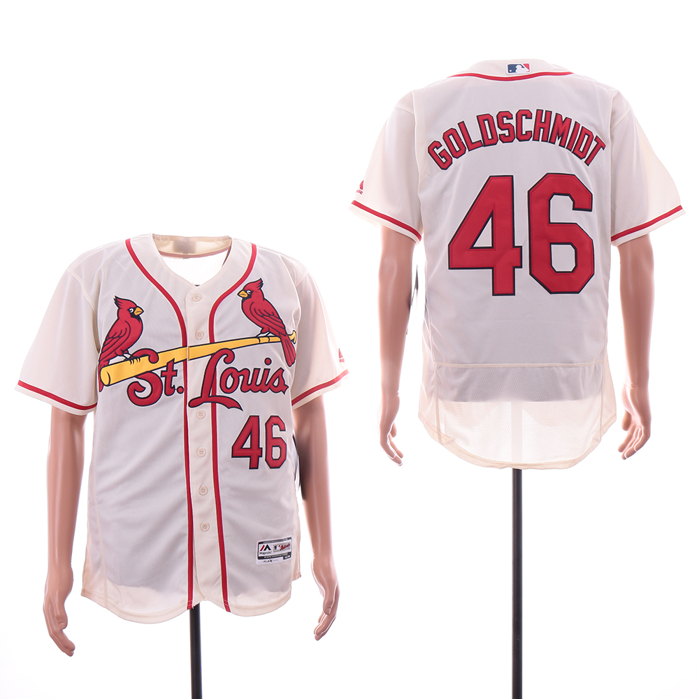 Cardinals 46 Paul Goldschmidt Cream Flexbase Jersey