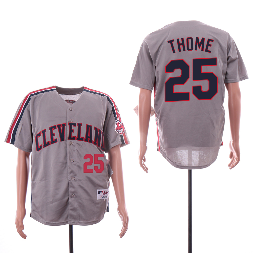 Indians 25 Jim Thome Gray Turn Back The Clock Jersey