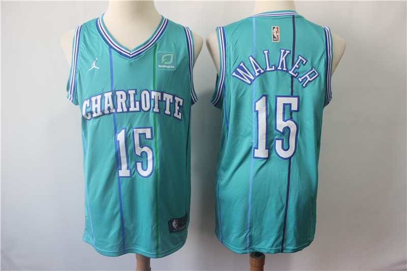 Hornets 15 Kemba Walker Teal Throwback Jordan Brand Swingman Jersey