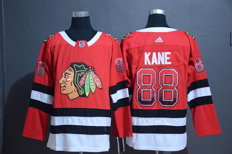 Blackhawks 88 Patrick Kane Red Drift Fashion Adidas Jersey