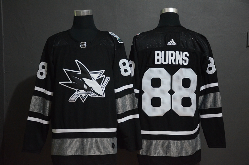 Sharks 88 Brent Burns Black 2019 NHL All-Star Game Adidas Jersey