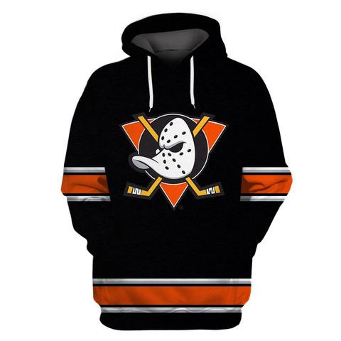 Ducks Black Alternate All Stitched Hooded Sweatshirt