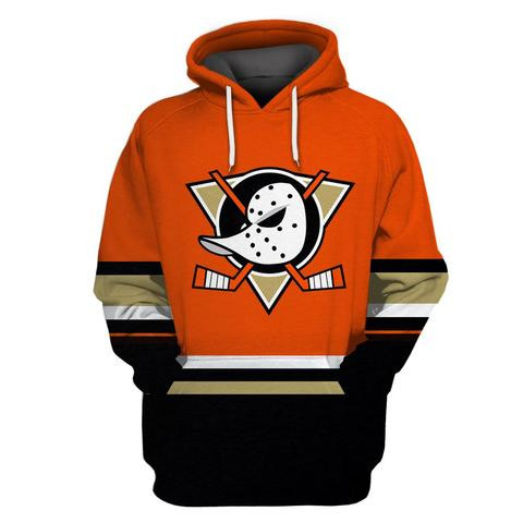 Ducks Orange Alternate All Stitched Hooded Sweatshirt