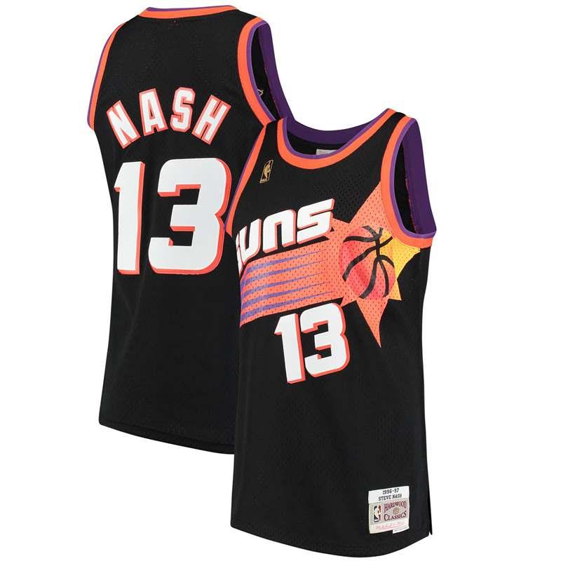 Suns 13 Steve Nash Black Hardwood Classics Jersey