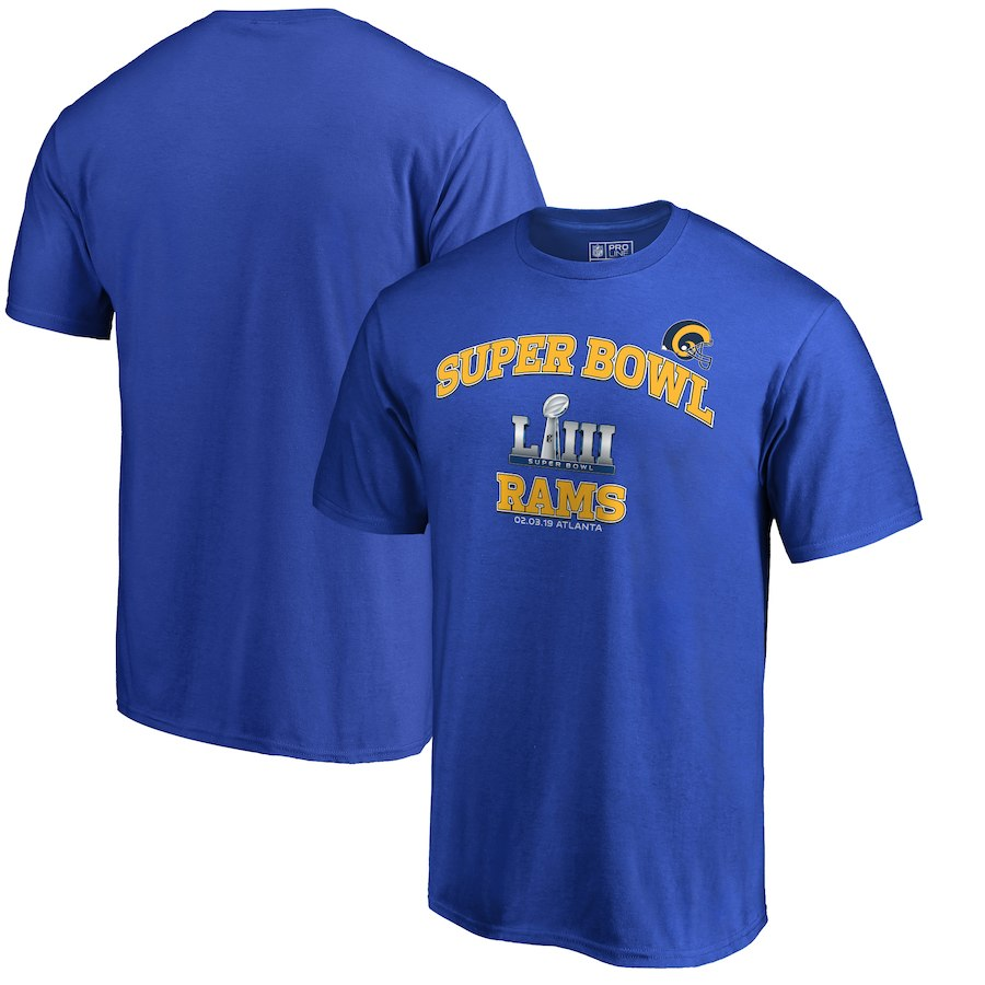 Los Angeles Rams NFL Pro Line by Fanatics Branded Super Bowl LIII Bound Heart & Soul T-Shirt Royal