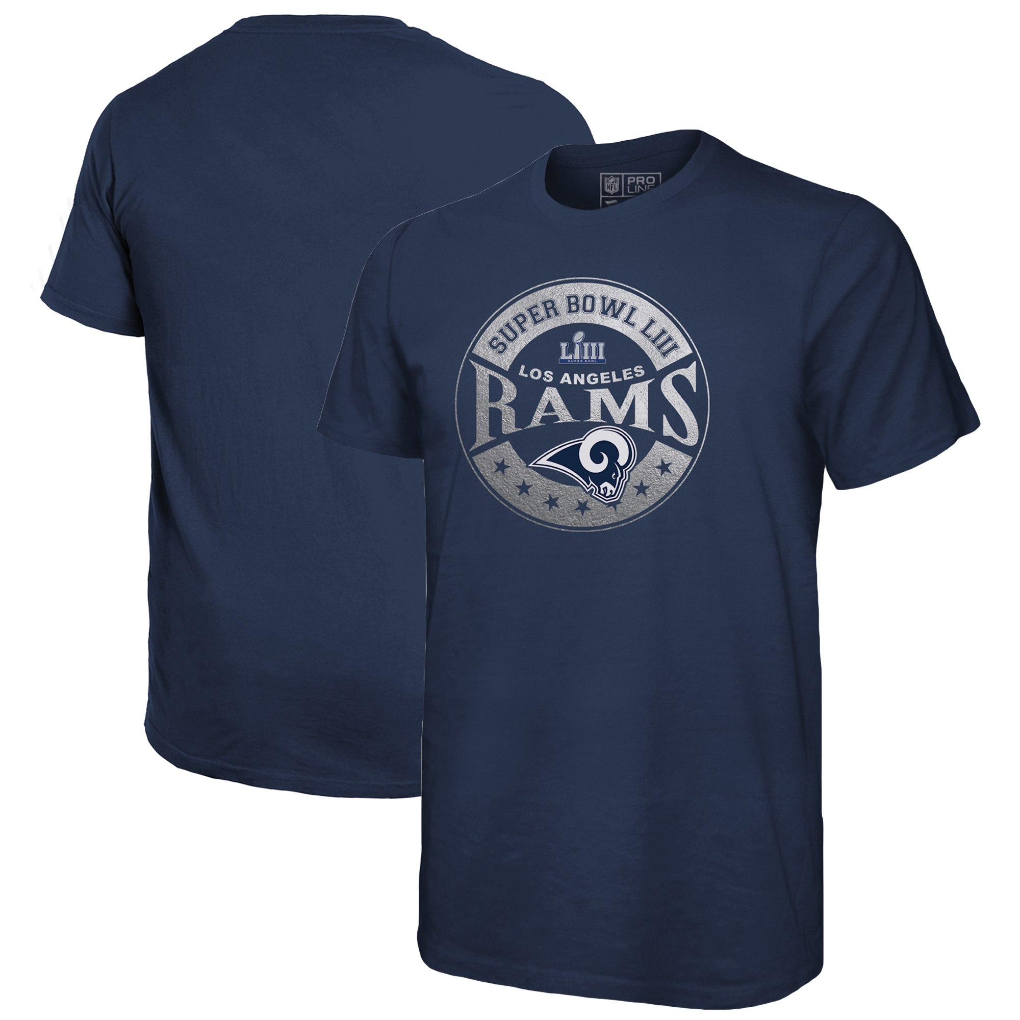 Los Angeles Rams NFL Pro Line by Fanatics Branded Super Bowl LIII Bound In The Zone T-Shirt Navy