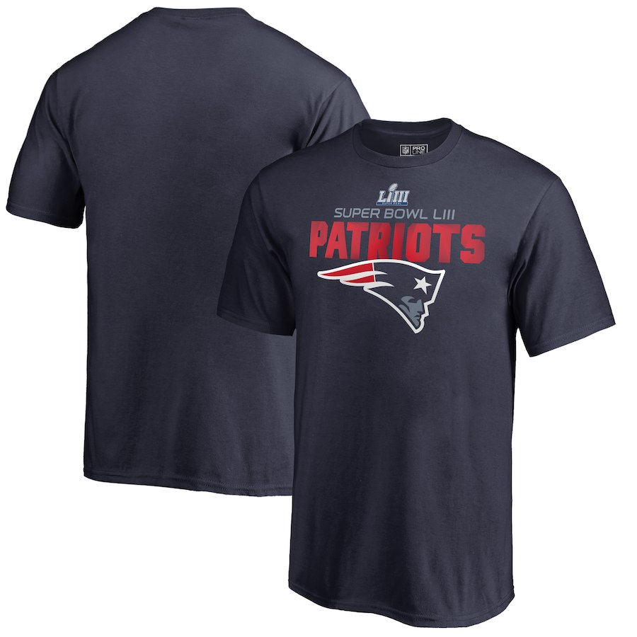 New England Patriots NFL Pro Line by Fanatics Branded Youth Super Bowl LIII Bound Flank T-Shirt Navy