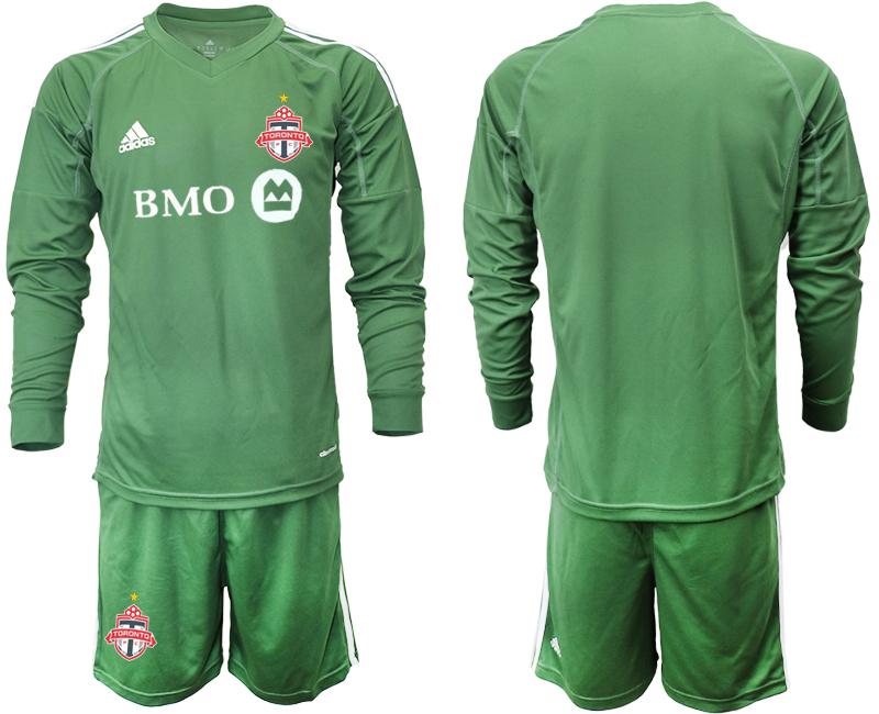 2018-19 Toronto FC Army Green Long Sleeve Soccer Jersey
