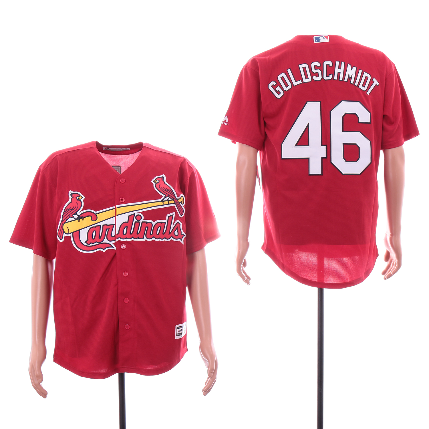 Cardinals 46 Paul Goldschmidt Red Cool Base Jersey