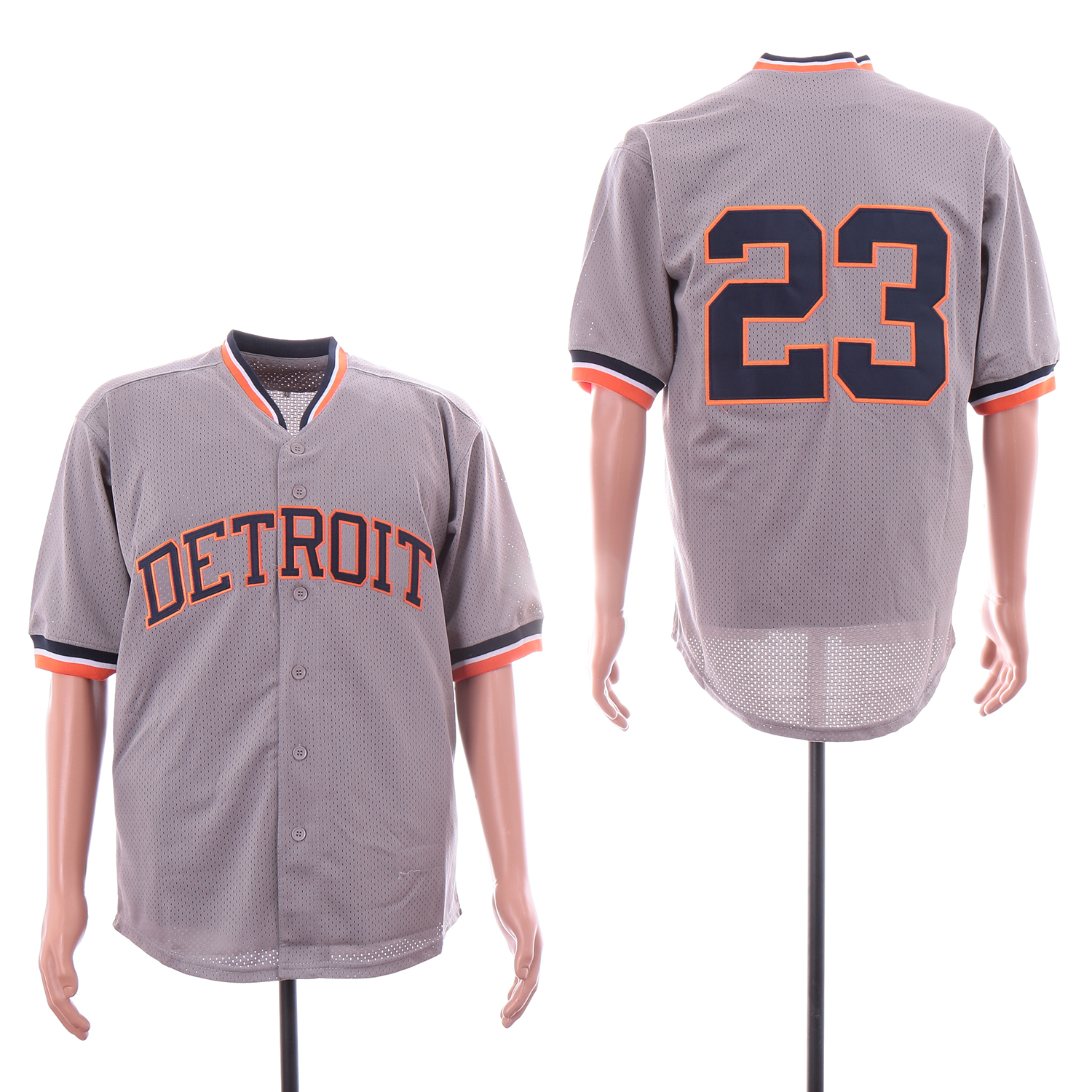 Tigers 23 Kirk Gibson Gray BP Jersey