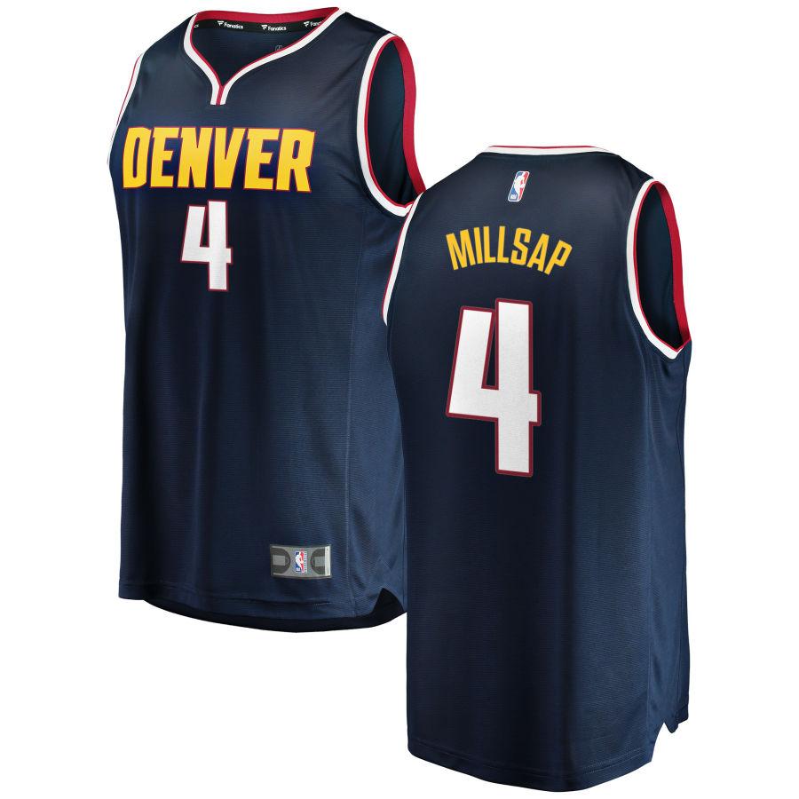 Nuggets 4 Paul Millsap Navy Nike Swingman Jersey