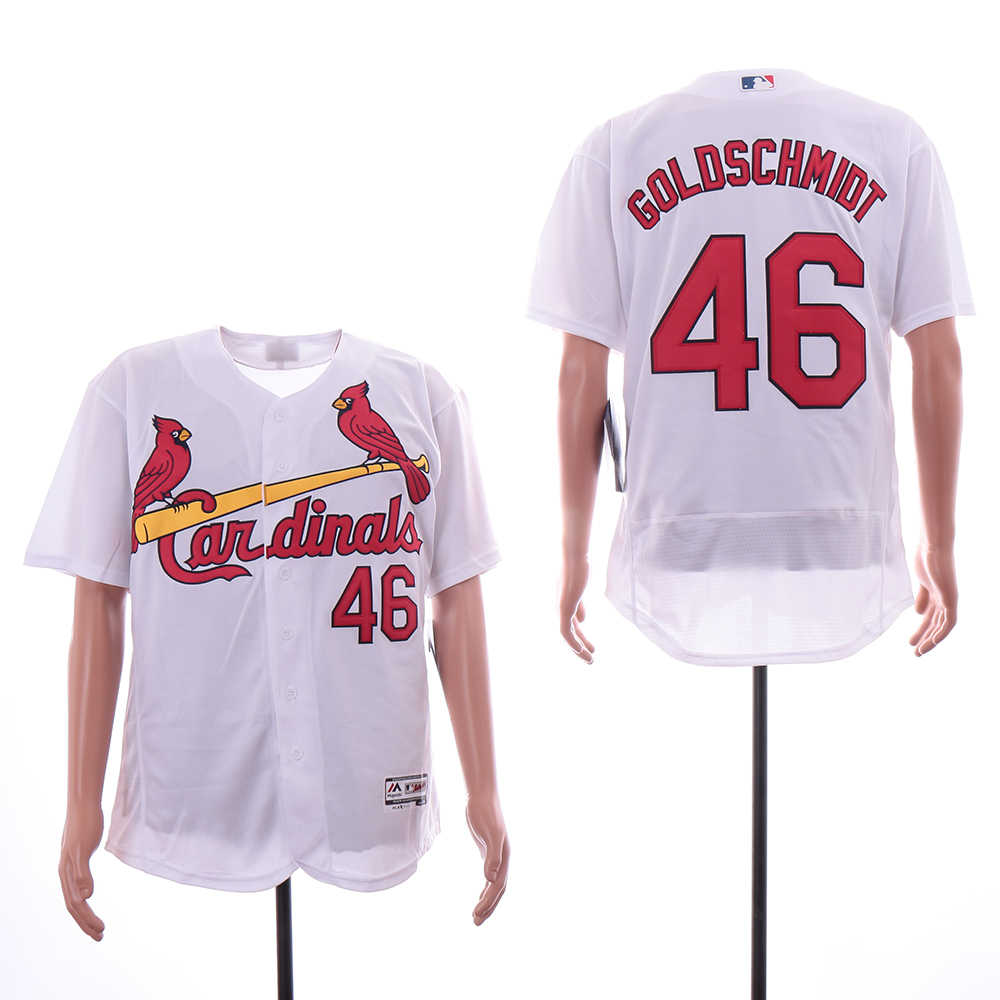 Cardinals 46 Paul Goldschmidt White Flexbase Jersey