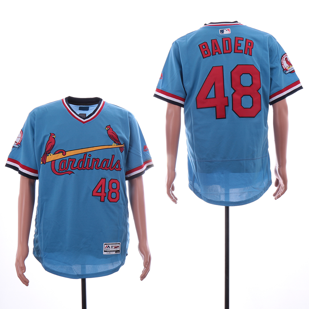 Cardinals 48 Harrison Bader Light Blue Flexbase Jersey