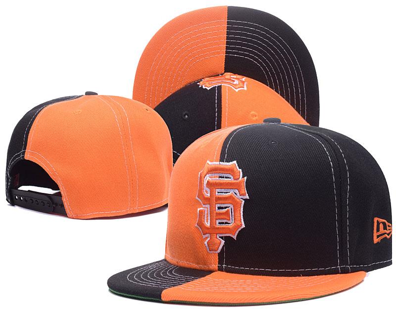 SF Giants Black & Orange Split Adjustable Hat GS