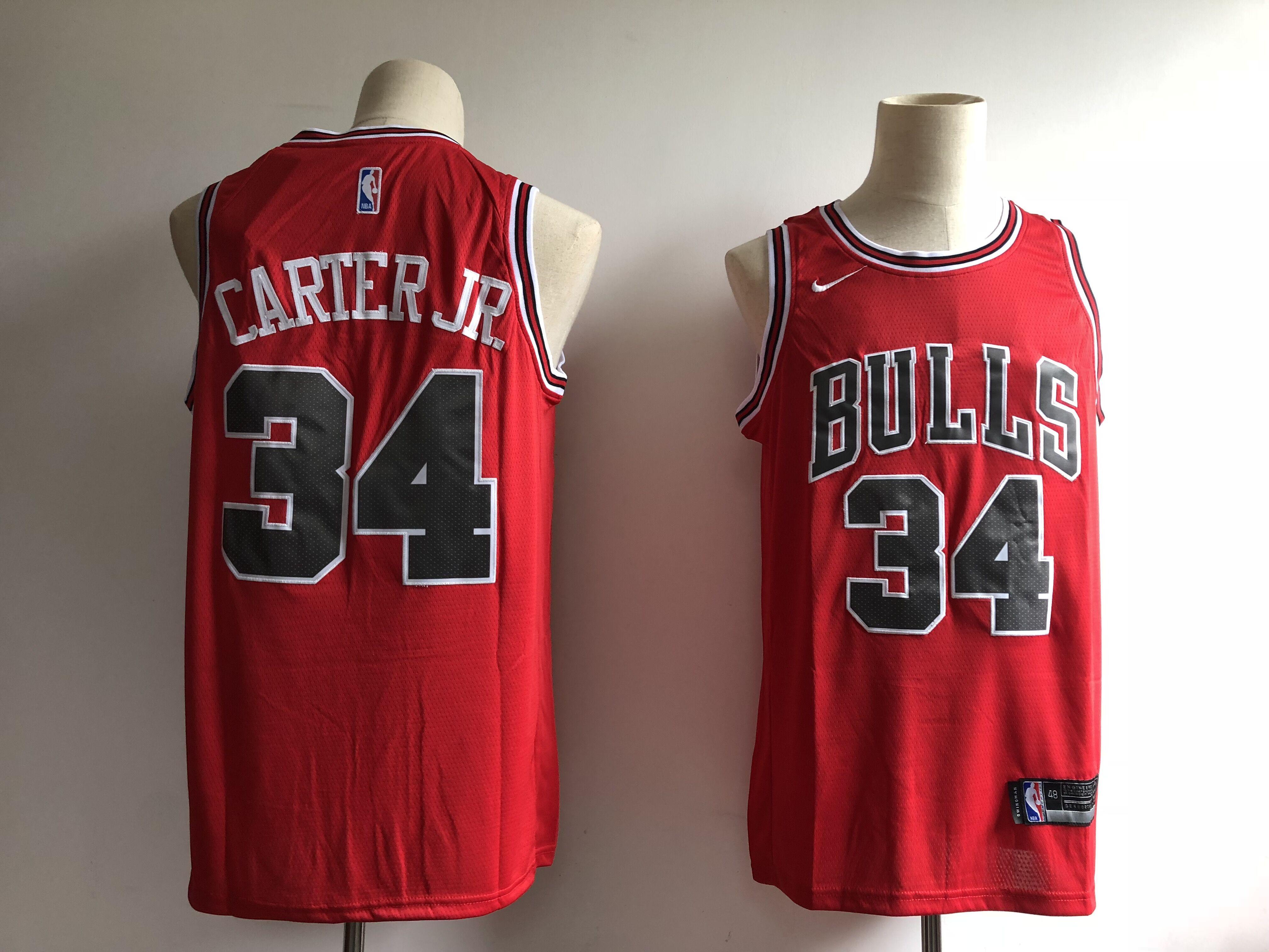 Bulls 34 Wendell Carter Jr. Red Nike Swingman Jersey