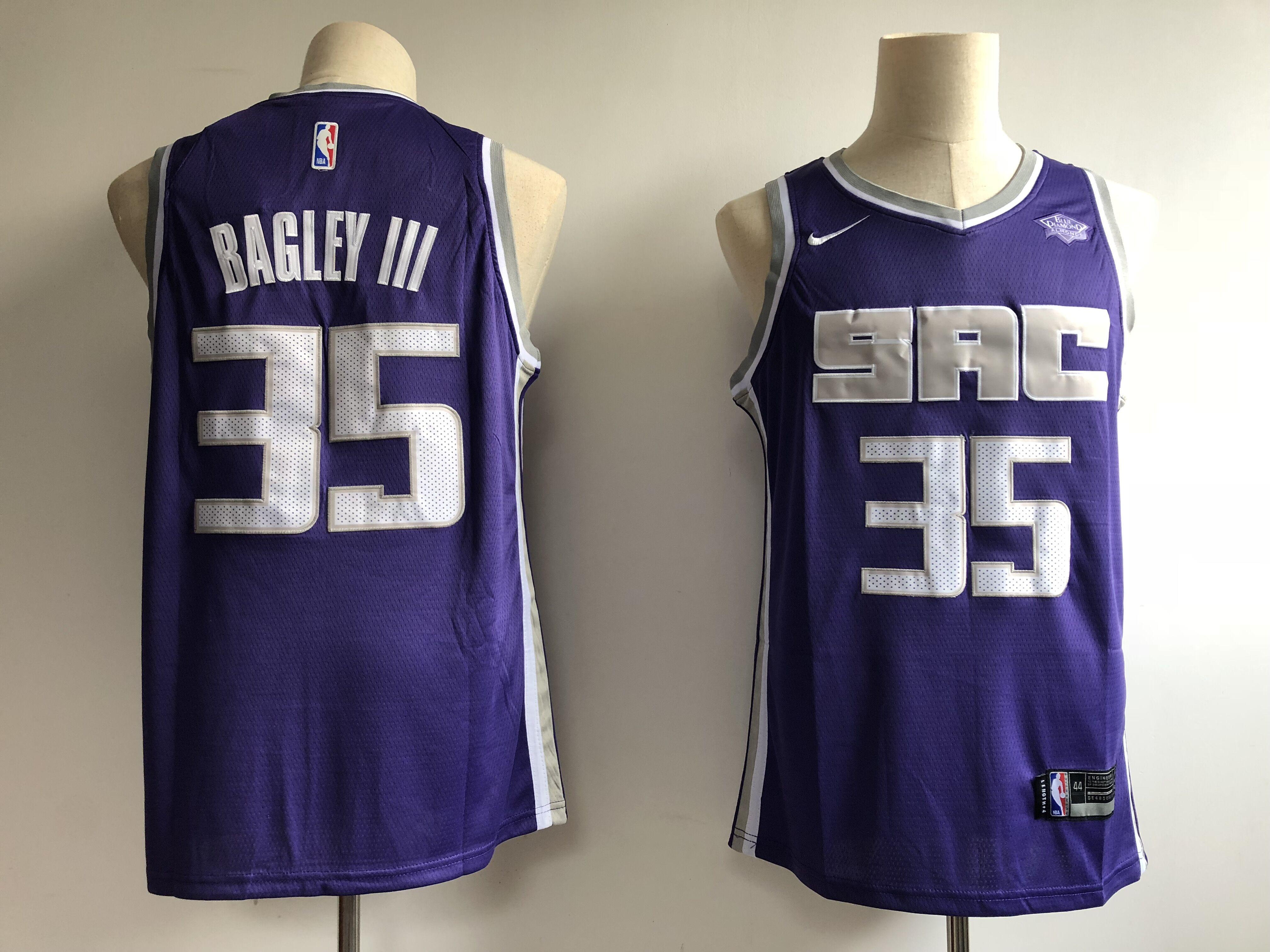 Kings 35 Marvin Bagley III Purple Nike Swingman Jersey