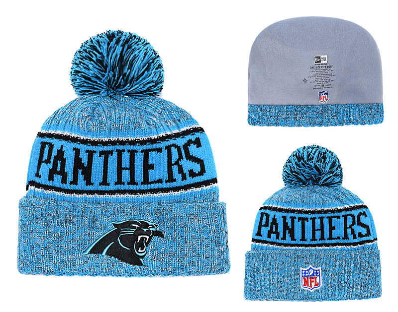 Panthers Team Logo Blue Knit Hat YD