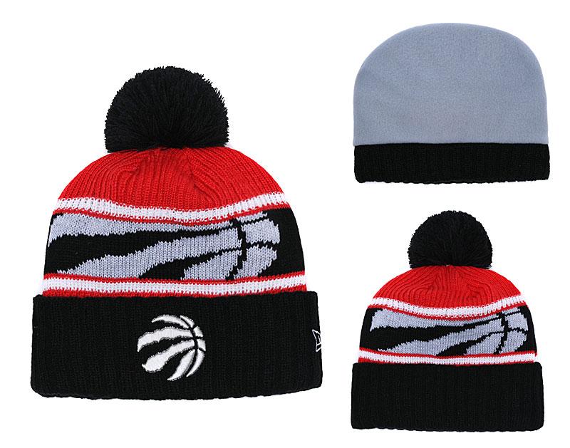 Raptors Team Logo Black Knit Hat YD