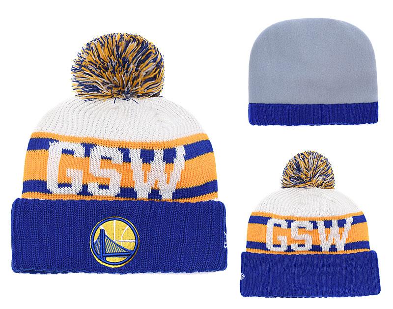 Warriors Fresh Logo Blue Knit Hat YD