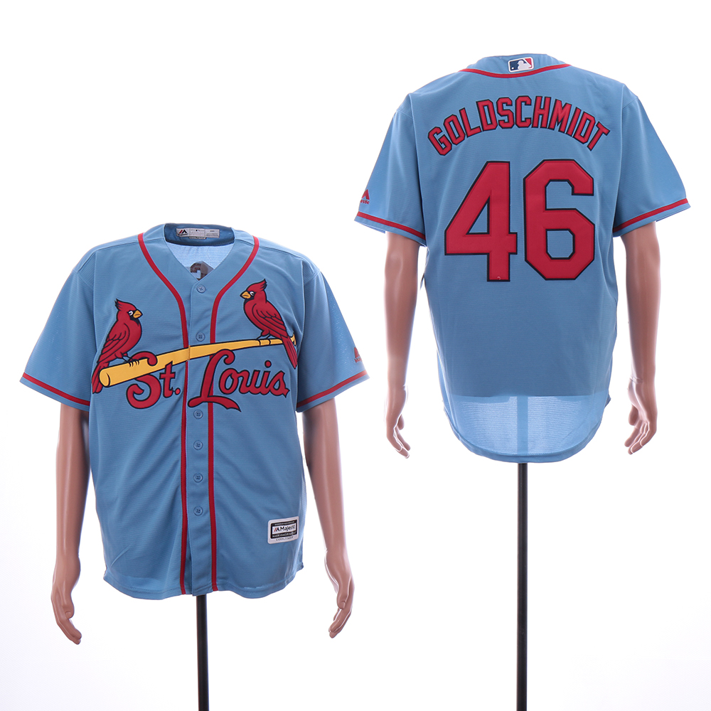 Cardinals 46 Paul Goldschmidt Light Blue Cool Base Jersey