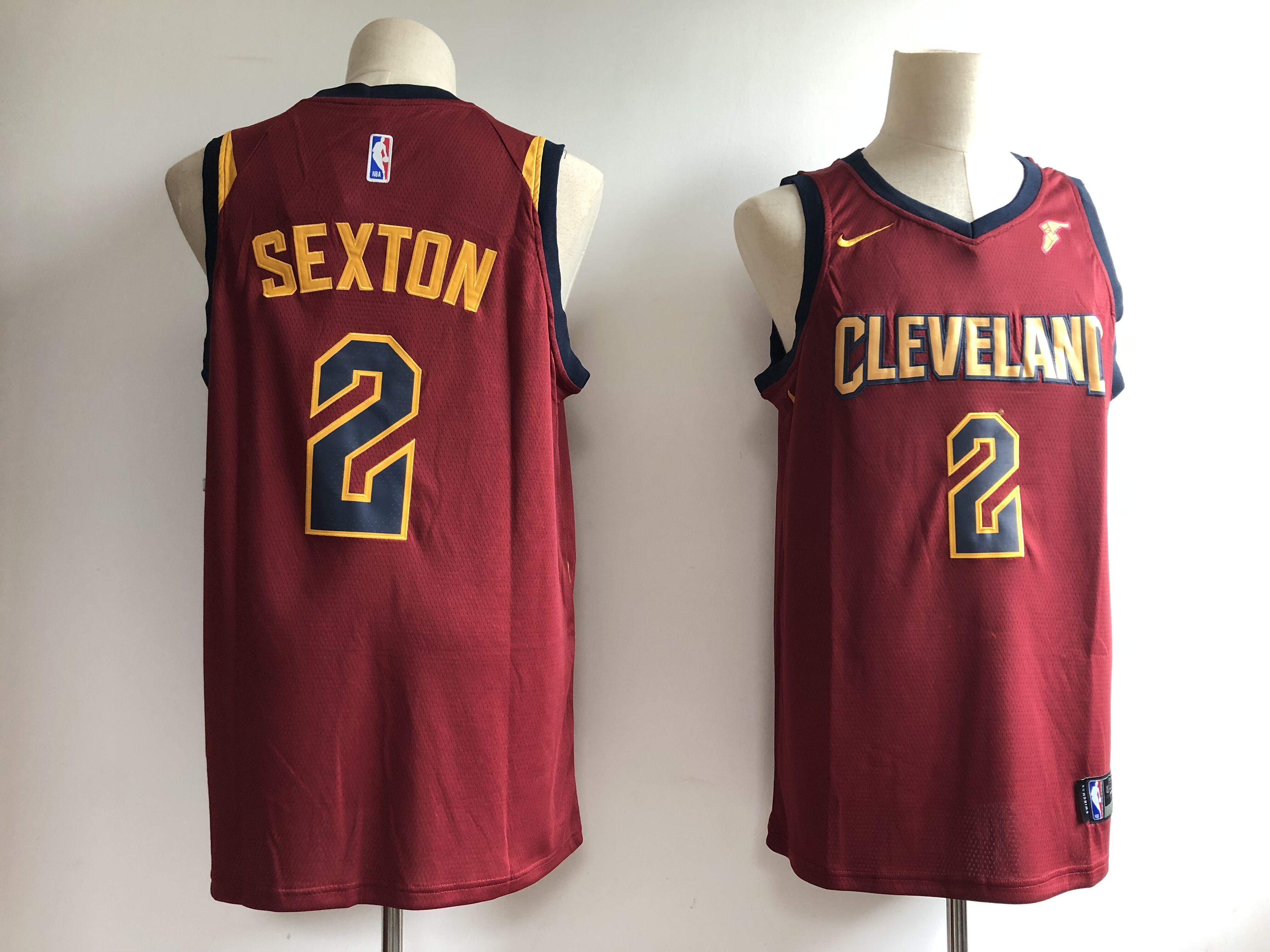 Cavaliers 2 Collin Sexton Burgundy Nike Swingman Jersey